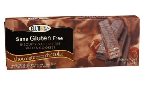 Glutino Gluten Free Milk Chocolate Coated Wafer Cookies - 130g (4.6oz)