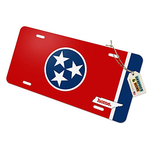 Tennessee TN Home State Novelty Metal Vanity License Tag Plate - Flag