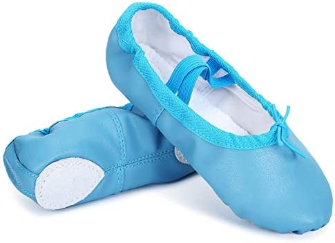 Leisfit Kids Boys Girls Leather Ballet