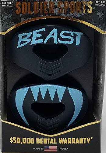 Soldier Sports New: Black & Baby Blue Beast Elite Air Lip Protector Mouthguard – DiZiSports Store