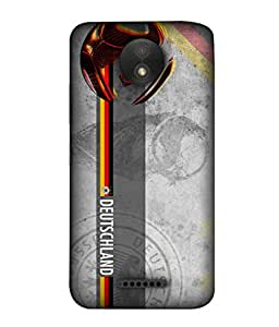 ColorKing Football Germany 29 Grey shell case cover for Motorola Moto C