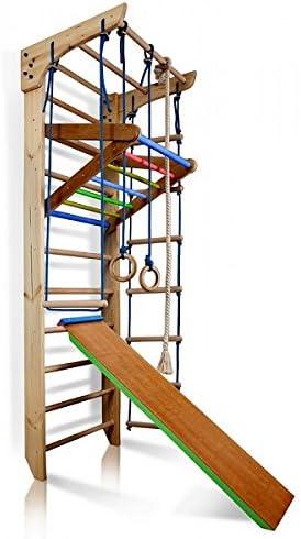 Sueco escalera de barras de madera niños gimnasio en casa, gimnasia deporte complejo 220 cmx80cmx65 cm: Amazon.es: Deportes y aire libre