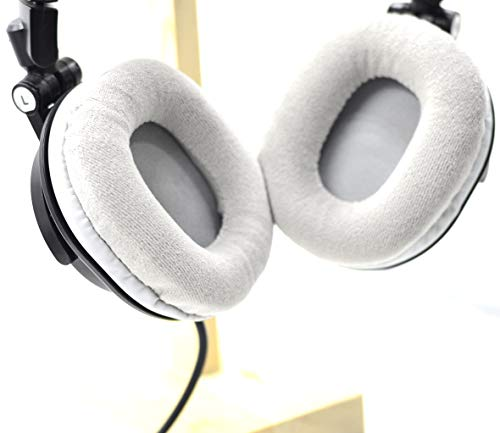 Replacement Gray Velour Ear Pads Cushion for Audio Technica ATH-M50 M50S M50X M40 M40S M40X Headsets Headphones