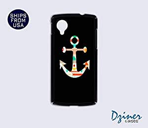 Nexus 5 Case - Black Colorful Anchor iPhone Cover