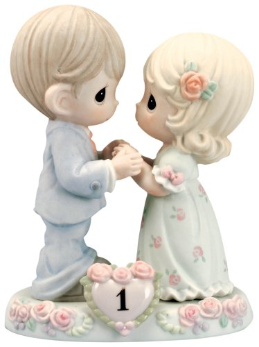 Precious Moments,  A Whole Year Filled With Special Moments, 1st Anniversary, Bisque Porcelain Figurine, 115910