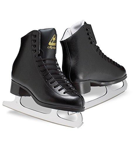 Jackson JS1593 Mystique Boys Ice Skates Black Beginner Level Figure Skating (M, - Leather Jackson Skates Figure
