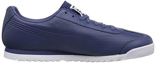 Puma Heren Roma Dlx Perf Sneaker Blauw Indigo-puma Wit