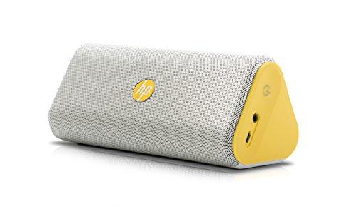 HP Roar Bluetooth Speaker, White/Yellow