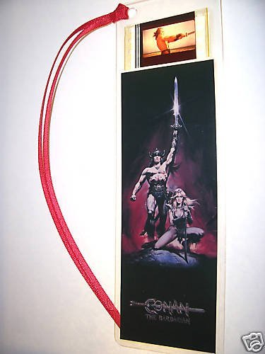 CONAN BARBARIAN movie film cell bookmark memorabilia collectible