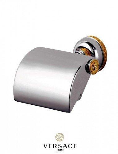 24k gold toilet paper. Versace Classic Chrome Gold Toilet Paper Roll Holder  Amazon co uk