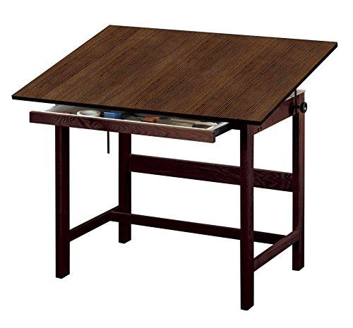 Alvin WTB42-WA Titan Solid Oak Table Walnut Finish 31 inches x 42 inches x 37 inches by Alvin