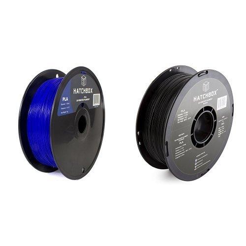 HATCHBOX-3D-PLA-1KG175-BLU-PLA-3D-Printer-Filament-Dimensional-Accuracy-005-mm-1-kg-Spool-175-mm-Blue-and-PLA-1KG175-BLK-PLA-3D-Printer-Filament-Dimensional-Accuracy-005-mm-1-kg-Spool-175-mm-Black-bun