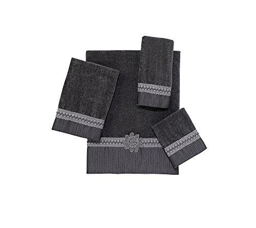 Avanti Linens Braided Cuff Hand, Towel, Granite