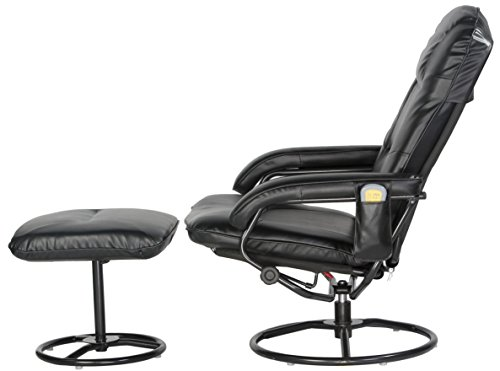 Comfort Products 60-0582 Leisure Recliner Chair with 10-Motor Massage & Heat, Black by Comfort Products (Image #3)'