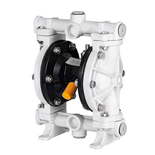 """SOFEDY 1/2"""" Polypropylen Air-Operated Double Membrane Diaphragm Pump Anti-Corrosion 13GPM 150F Max. 100PSI 66605J-3EB for Industrial Use Waste Oil HCL White"""