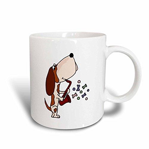 3dRose 195273_1 Funny Happy Dancing Puppy Dog Mug, 11 oz