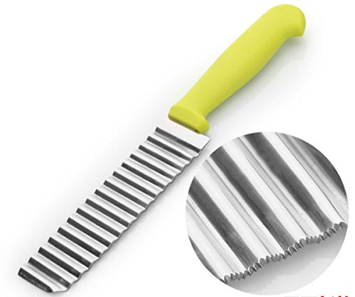 Stainless Crinkle Cut Knife, Potato and Vegetable Cutter Carrot Crinkle Wavy Cutter (Pickle Slicer)