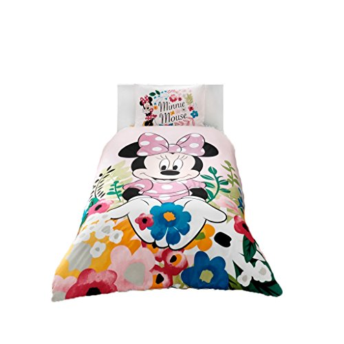 Minnie Mouse Glitter %100 Cotton Girl's Kid's Duvet/Quilt Cover Set Single / Twin Size Kids Bedding