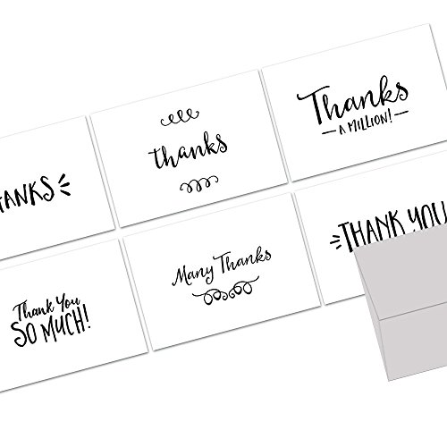 Mini Handlettered Simple Thank You - 48 Note Cards 4.5