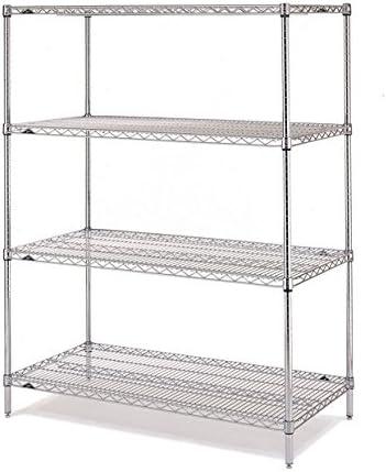 Capacity 600 lb 1 Height x 60 Width x 14 Depth Metro 1460BR Super Erecta Brite Steel Wire Shelf Pack of 2