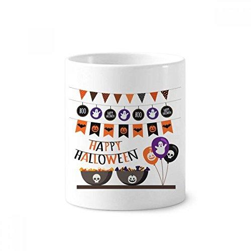 Flag Ghost Fear Halloween Corpse Toothbrush Pen Holder Mug White Ceramic Cup 12oz