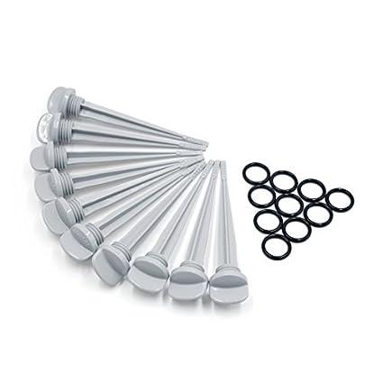 eDealMax 10 piezas de plástico gris de la motocicleta del nivel de aceite Gauge Tira reactiva