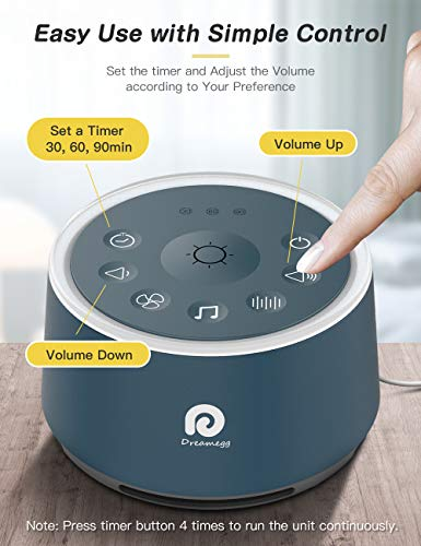 Travel Home High Fidelity Sounds White Noise Machine for Sleeping Timer Feature Sound Machine for Baby Adults Office Sound Machine