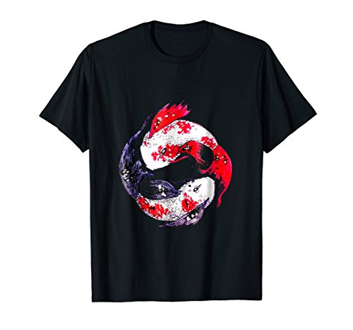 Yin Yang Koi Fishes t-shirt gift by Joitamix