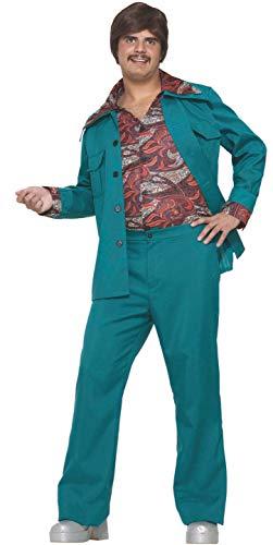 Forum Novelties Men's 70's Disco Fever Costume Leisure Suit, Blue/Green, ()