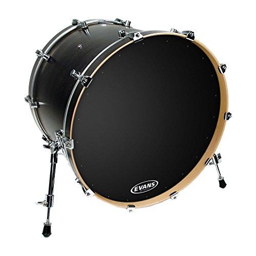 Evans EQ1 Resonant Black Bass Drum Head, 22 - Head Drum Pop