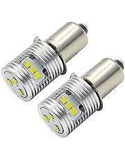 Ruiandsion Upgrade LED Zaklamp Lamp P13.5S Basislampen 3V 4.5V 6-24V High Power CSP 9SMD Chipset Vervanging voor Koplamp Zaklamp LED Conversie Kit Lamp (Pack van 2)