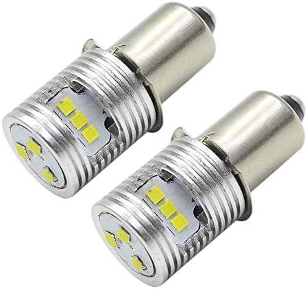 Pack of 1 Ruiandsion 6V LED Torch Light Bulb P13.5S COB 1W 6000K White 200LM LED Bulb for Flashlight Torch Headlight,Non-Polarity