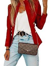 GAGA Womens Short Zip Up Moto Biker Jacket Stand Collar Jacket Jacket
