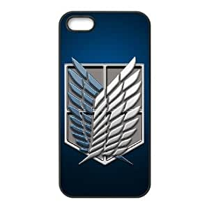iPhone 5, 5S Phone Case Black Attack on Titan F5107318