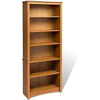 orson 6 shelf slim bookcase white target sale oak