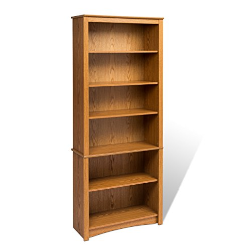 - Oak 6-shelf Bookcase
