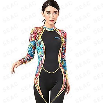 c58c58f3f6 Wan Place SBART HISEA Women s 1mm Wetsuits Dive Skins Full Wetsuit Anti-Eradiation  Nylon Neoprene