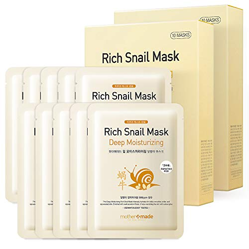 MOTHER MADE Deep Moisturizing Rich Snail Face Sheet Mask with Snail Secretion Filtrate 5