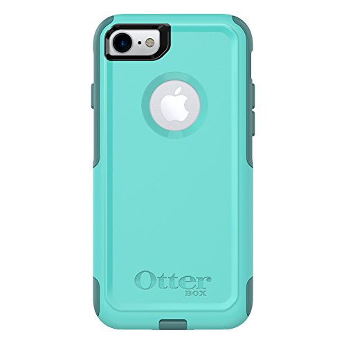 : OtterBox COMMUTER SERIES Case for iPhone 8 & iPhone 7 (NOT Plus) - Frustration Free Packaging - AQUA MINT WAY (AQUA MINT/MOUNTAIN RANGE GREEN)