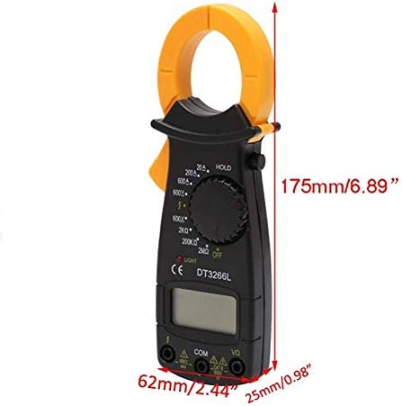 ZYL-YL Digital DT3266L Digital Clamp Meter Multimeter Voltage Current Resistance Tester LS'D Tester precise