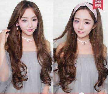 Amazon Com Women Girls Female Grandmother Gray Wig Long Curly Hair