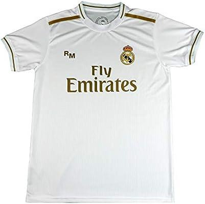 Real Madrid Camiseta Primera Equipación Infantil Hazard Producto Oficial Licenciado Temporada 2019-2020 Color Blanco