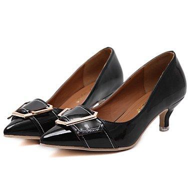 Talones de las mujeres de primavera y verano de vestir de cuero Otros gatito informal talón Otros Negro Marrón Black