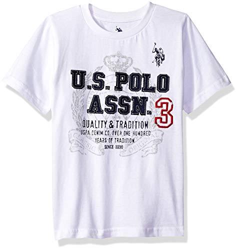 U.S. Polo Assn. Boys Short Sleeve Embellished Crew Neck T-Shirt