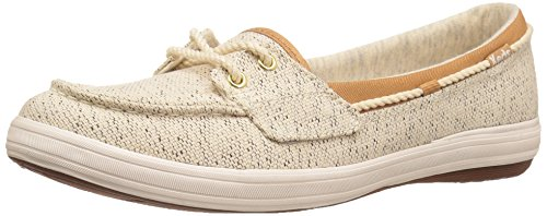 Keds Women's Glimmer Salt and Pepper Fashion Sneaker, Cream, 8.5 M US