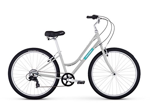 "Raleigh Bikes Venture Step Thru Comfort Bike, 17""/Medium, Silver"