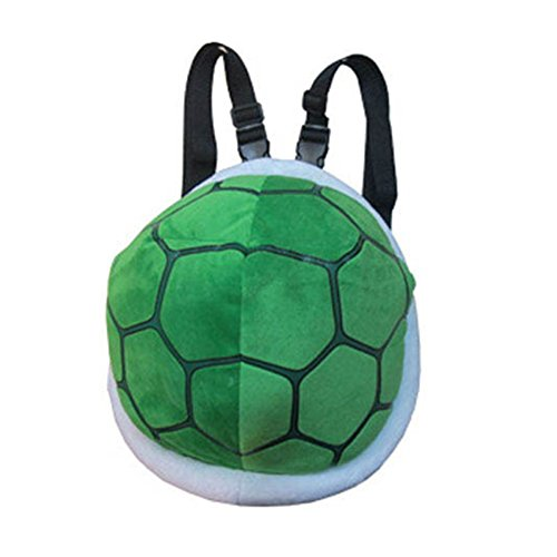 YOURNELO Kid's Super Mario Turtle Plush Toddler Backpack for Preschool Boys -