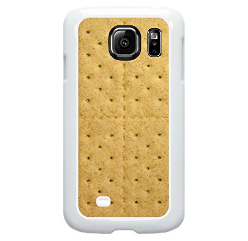 Graham Cracker- Protective White Plastic Case for the Samsung Galaxy s6 EDGE Phone (Not compatible with the Standard Galaxy s6) ()