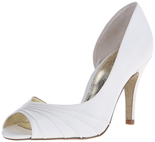 Adrianna Papell Women's Flynn D'orsay Pump, Ivory, 7.5 M US (Ivory Leather Peep Toe Pumps)