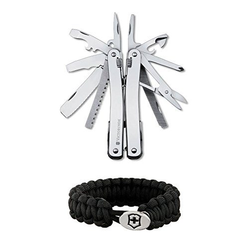 Victorinox Swiss Army Swisstool Spirit with Leather Pouch and Paracord Bracelet by Victorinox